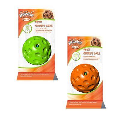Pawise - Pawise Flex Giggle Ball Kuş Sesli Köpek Oyuncağı 7 cm
