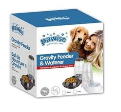 Pawise - Pawise Gravity Otomatik Mama ve Su Kabı 2,65 Lt Beyaz