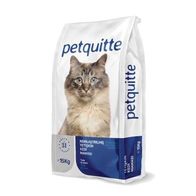 Petquitte - Petquitte Kısırlaştırılmış Yetişkin Kedi Maması 15 Kg