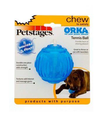 Petstages - Petstages Orka Tennis Ball Tenis Topu Şeklinde Kemirme Oyuncağı 7 cm