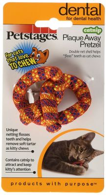 Petstages - Petstages Plaque Away Pretzel Kedi Oyuncağı