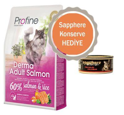 Profine - Profine Derma Somonlu Yetişkin Kedi Maması 2 KG