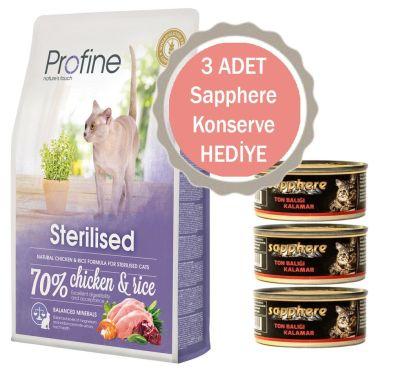 Profine - Profine Sterilised Tavuklu Kısırlaştırılmış Kedi Maması 10 KG