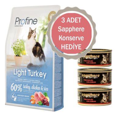 Profine - Profline Light Hindili Yetişkin Diyet Kedi Maması 10 KG