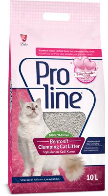 Proline - Proline Bebek Pudrası Kokulu Topaklanan Kedi Kumu 10 Lt
