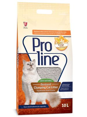 Proline - Proline Portakal Kokulu Topaklanan Kedi Kumu 10 Lt