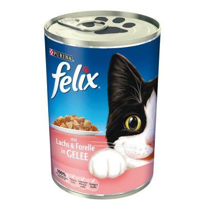 Purina - Purina Felix Somon -Alabalıklı Kedi Konservesi 400 Gr