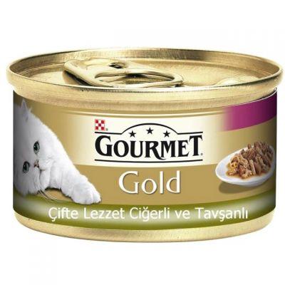 Gourmet - Gourmet Gold Ciğer & Tavşan Konserve Kedi Maması 85 Gr