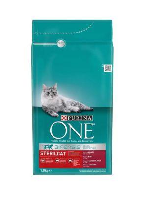 Purina - Purina One Sığır Etli Kısırlaştırılmış Kedi Maması 1,5 KG