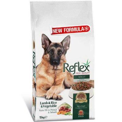 Reflex - Reflex Kuzulu Pirinçli ve Sebzeli Yüksek Kaliteli Köpek Maması 15 Kg