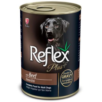 Reflex - Reflex Plus Biftekli Parça Etli Köpek Konservesi 400 Gr