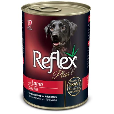 Reflex - Reflex Plus Kuzulu Parça Etli Köpek Konservesi 400 Gr
