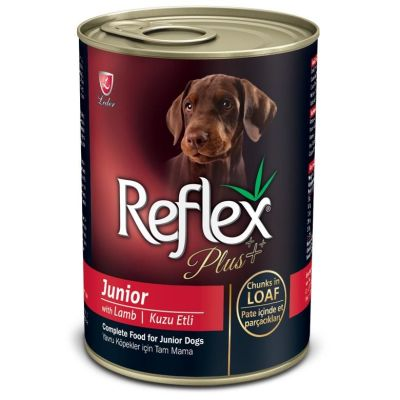 Reflex - Reflex Plus Kuzulu Parça Etli Yavru Köpek Konservesi 400 Gr