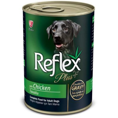 Reflex - Reflex Plus Tavuklu Parça Etli Köpek Konservesi 400 Gr