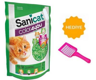 Sanicat - Sanicat Color4You Ferah Kokulu Kedi Kumu 5LT -KUM KÜREĞİ HEDİYELİ