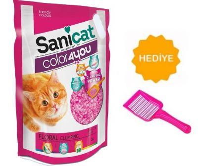 Sanicat - Sanicat Color4You Floral Kokulu Kedi Kumu 5LT -KUM KÜREĞİ HEDİYE