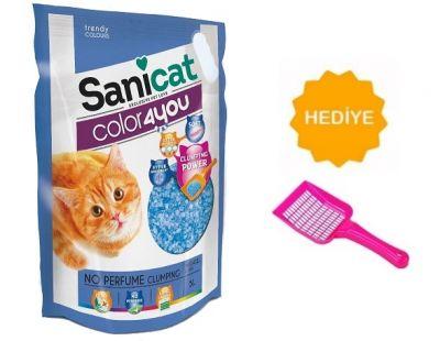 Sanicat - Sanicat Color4You Parfümsüz Kedi Kumu 5LT -KUM KÜREĞİ HEDİYELİ