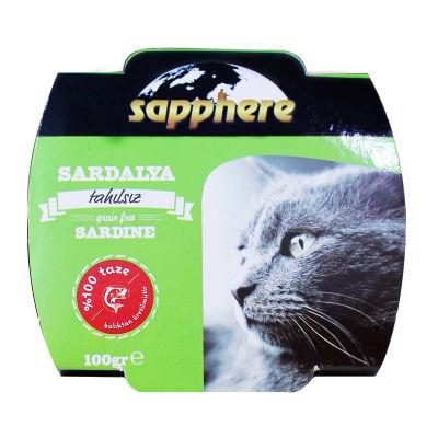Sapphere - Sapphere Ton Balığı ve Sardalyalı Ezme Kedi Konservesi 100 gr