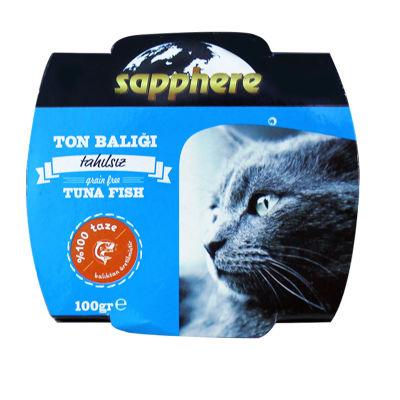 Sapphere - Sapphere Ton Balıklı Ezme Kedi Konservesi 100 gr