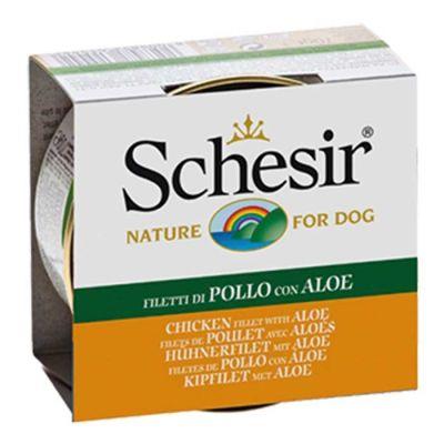 Schesir - Schesir Jelly Tavuklu Aloe Köpek Konservesi 150 Gr