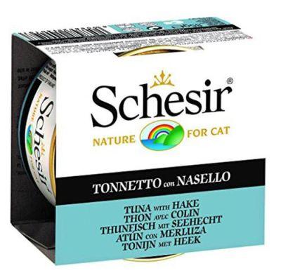 Schesir - Schesir Jelly Tuna ve Barlam Balıklı Kedi Konservesi 85 Gr