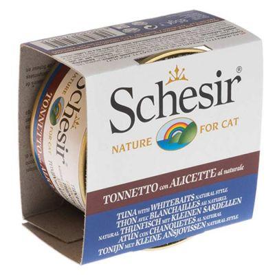 Schesir - Schesir Ton Balıklı Hamsili Pirinçli Kedi Konservesi 85 Gr