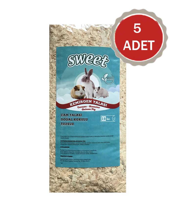 Sweet Kemirgen Talaşı 15 Litre - 5 ADET