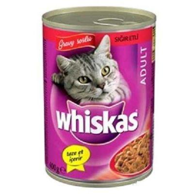 Whiskas - Whiskas Biftekli Konserve Kedi Maması 400 Gr